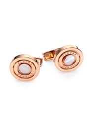 Dunhill Gyro Mother Of Pearl Cuff Links Rose Gold