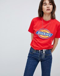 Dickies Boyfriend T Shirt With Logo Red