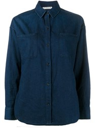 Vince Long Sleeve Shirt Blue