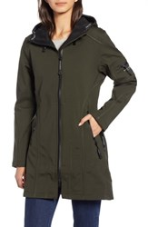 Ilse Jacobsen Rain 7 Hooded Water Resistant Coat Dark Forest