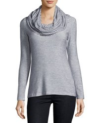 Madison And Berkeley Striped Cowl Neck Sweater Blue