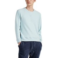 Barneys New York Cotton Blend Fleece Sweatshirt Lt. Blue