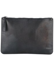 Orciani Zipped Clutch Black