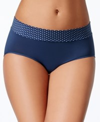 Maidenform Seamless Hipster Dm0017 Navy With Navy White Dot