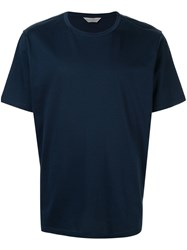 Gieves And Hawkes Round Neck T Shirt Blue