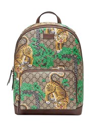 Gucci Bengal Gg Supreme Backpack Men Leather Nylon Canvas Microfibre One Size Nude Neutrals