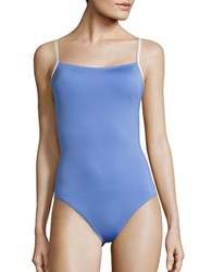 Kate Spade Bow Back One Piece Swimsuit Blue
