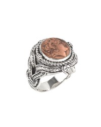 Konstantino Men's Aeolus Sterling Silver And Copper Alexander The Great Ring
