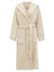 Missoni Home Rex Zigzag Jacquard Cotton Terry Bathrobe Cream