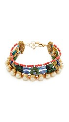 Erickson Beamon Imitation Pearl Safari Choker Multi