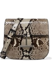 Tom Ford Tara Mini Python Shoulder Bag Dark Gray