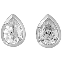 Jools By Jenny Brown Cubic Zirconia Tear Drop Stud Earrings