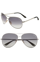 Tom Ford 'Charles' 62Mm Aviator Sunglasses Palladium