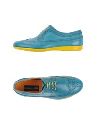 Gianfranco Lattanzi Footwear Lace Up Shoes Men Turquoise