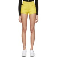 Versace Jeans Couture Yellow Denim Hot Shorts