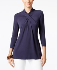 Alfani High Neck Top Only At Macy's Navy Nautical