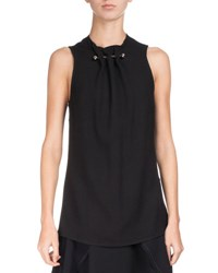 Proenza Schouler Sleeveless Crepe Top W Barbell Detail Black