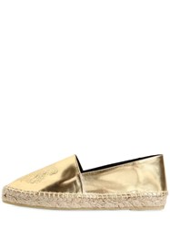 Kenzo 20Mm Tiger Metallic Leather Espadrilles