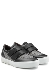 Robert Clergerie Sneakers With Printed Fabric And Leather Black