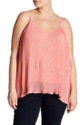 14Th And Union Nova Chiffon Pleated Camisole Plus Size Pink