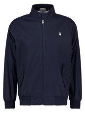 Knowledge Cotton Apparel Catalina Summer Jacket Total Eclipse Dark Blue