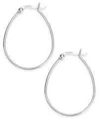 Giani Bernini Teardrop Hoop Earrings In Sterling Silver