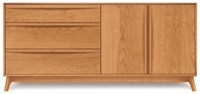 Copeland Furniture Catalina 3 Drawer On Left 2 Door On Right Buffet Brown