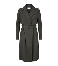 Reiss Lina Lightweight Trench Coat Female Green