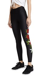 Chrldr Stars And Roses Leggings Black