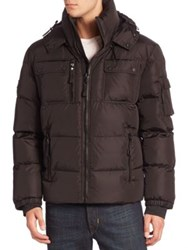Sam. Quilted Military Goose Down Jacket Military Black