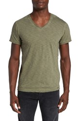 Dieselr Men's Diesel 'Tossik' V Neck T Shirt Olive Green