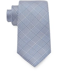 Austin Reed 7Cm Prince Of Wales Check Tie Blue