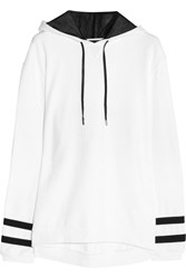 Karl Lagerfeld Samantha Cotton Jersey Hooded Top White