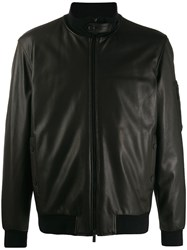 Z Zegna High Neck Bomber Jacket Black