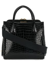 Dsquared2 Twin Peaks Tote Women Leather One Size Black