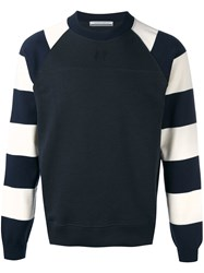 Andrea Pompilio Striped Sleeves Jumper Black