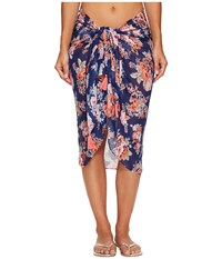 Seafolly Antique Floral Sarong Cover Up French Blue Scarves
