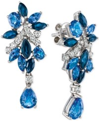 Le Vian Precious Collection Sapphire 5 1 5 Ct. T.W. And Diamond 3 8 Ct. T.W. Drop Earrings In 14K White Gold Only At Macy's