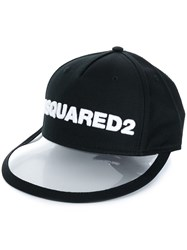 Dsquared2 Pvc Peak Baseball Cap Black