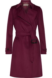 Burberry Tempsford Cashmere Trench Coat Crimson