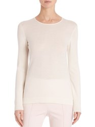 Akris Cashmere And Silk Knit Pullover Pelican