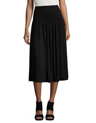 Lord And Taylor Smocked Convertible Skirt Black