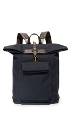 Mismo M S Escape Backpack Navy Dark Brown