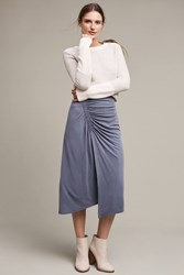 Anthropologie Grayson Knit Midi Skirt Slate