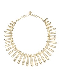 Kendra Scott Jill Gold Plated Statement Bib Necklace Gold Metal