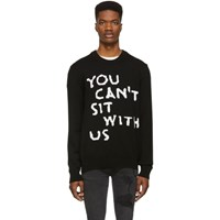 Nasaseasons Black Wool 'You Can't Sit With Us' Sweater
