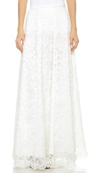 Haute Hippie High Waisted Lace Maxi Skirt Swan