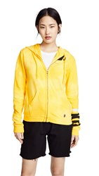 Freecity Clouds And Stripes Zip Up Hoodie Yellowpaint