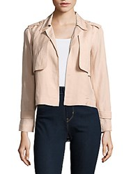 Leo And Sage Solid Open Front Jacket White