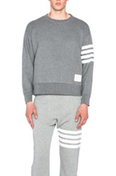 Thom Browne Oversized Crewneck Sweatshirt In Gray